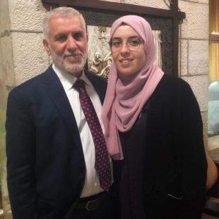 بشرى الطويل مع والدها