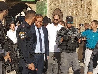 الحاخام يهودا غليك يقود اقتحامات المستوطنين للمسجد الأقصى عشية الأعياد اليهودية