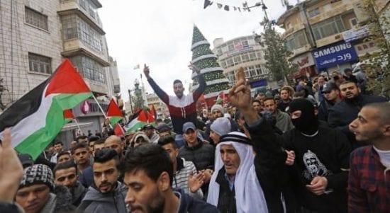 مسيرة جماهيرية وسط رام الله احتجاجا على مخططات الضم