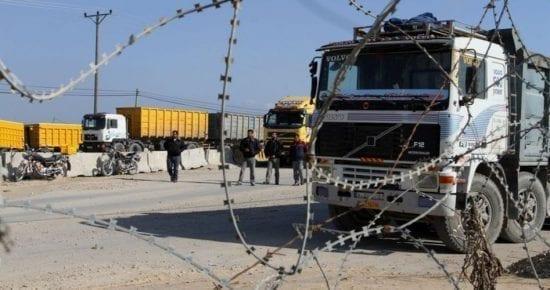 الاحتلال يطالب مصر بمنع إدخال مواد البناء لغزة