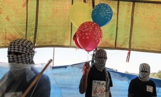 مئات البالونات الحارقة والمفخخة أُطلقت من غزة اليوم