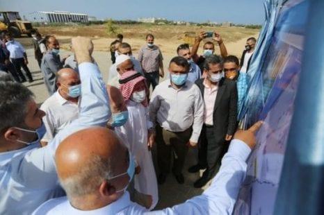 افتتاح مشروع العمارات السكنية في مخيم دير البلح