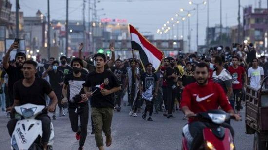 العراق تشهد مظاهرات إحتجاجيّة نظرًا لسوء الأوضاع الاقتصادية
