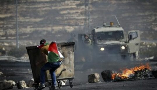 إصابة مواطن بنابلس الأسرى مسيرة كفر قدوممواجهات الضفة الاحتلال - مواجهات بلدة بيتا