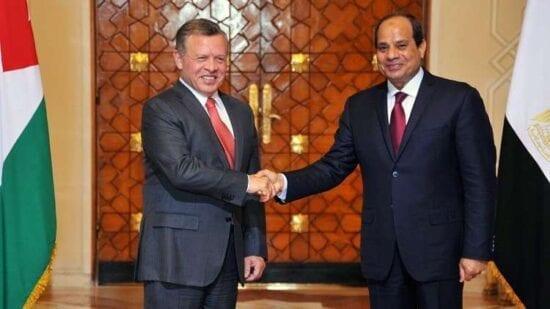 العاهل الأردني والرئيس المصري يتباحثان مستجدات القضية الفلسطينية