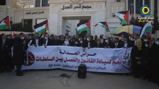 """الحركي للمحامين بغزة: التعديلات الرئاسية على القضاء """"غير دستورية"""""""