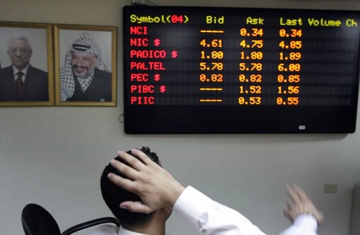 شركات بورصة فلسطين تخسر 27 مليون دولار من قيمتها في أسبوع