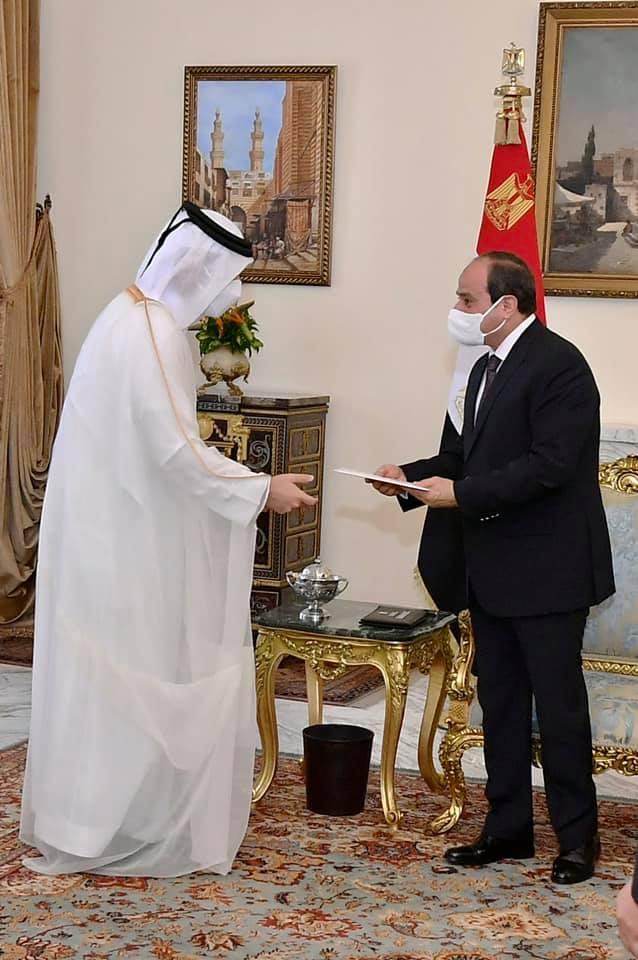 أمير قطر والرئيس السيسي -