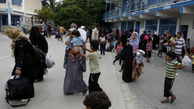 الإشاعات نزوح العدوان على قطاع غزة الاحتلال - أونروا وغزة