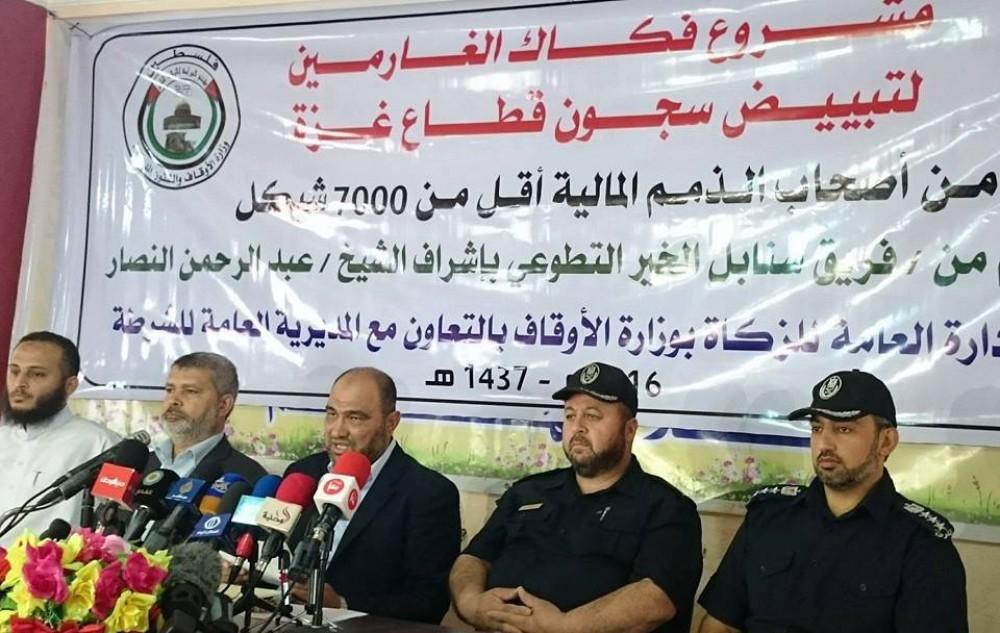 الحاضنة الشعبية تنفّذ مشروع فكاك الغارمين بتبرع من الأسرى الأبطال