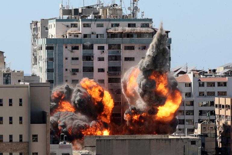 حماس: مزاعم الاحتلال حول قصف برج الجلاء تبريرًا لجريمته باستهدافه