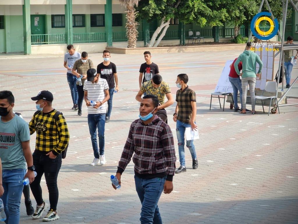 """اليوم الأول لانطلاق امتحانات الثانوية العامة"""" التوجيهي"""" بفلسطين"""