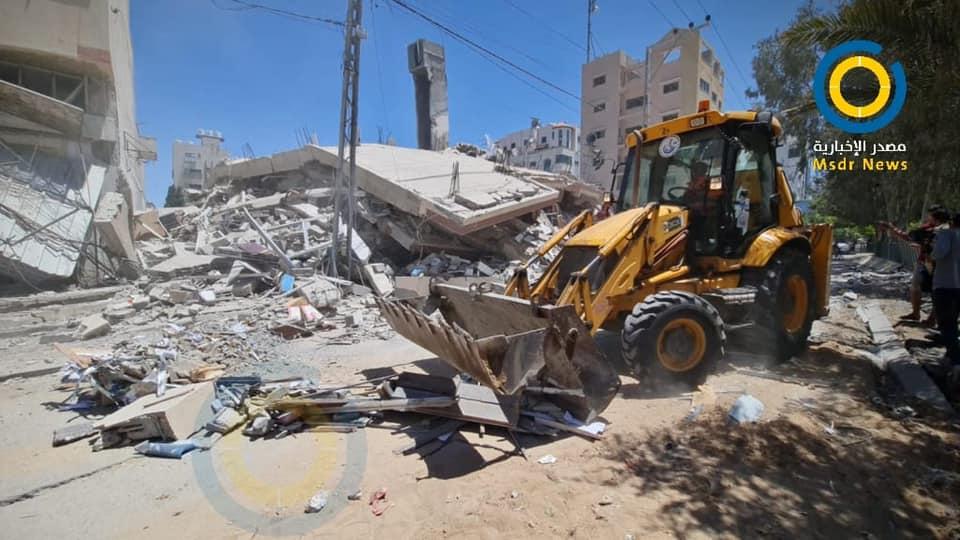 سرحان لمصدر: إزالة 90% من ركام العدوان الأخير على غزة