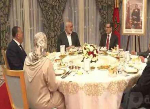 ملك المغرب يقيم مأدبة عشاء على شرف إسماعيل هنية