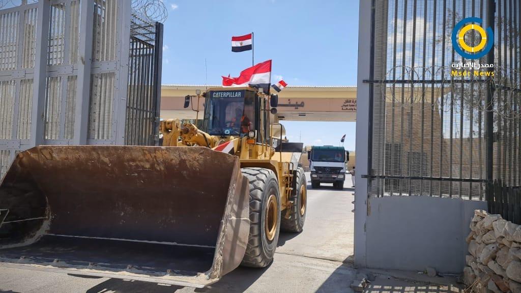 دخول المعدات المصرية قطاع غزة