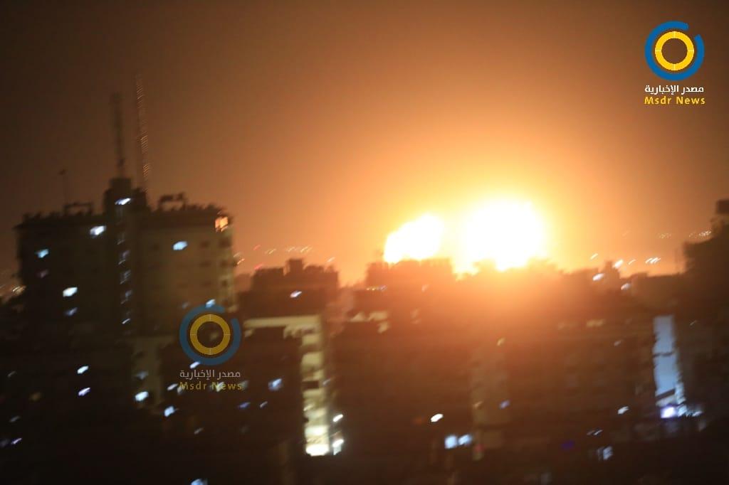 بدعوى الرد على البالونات الحارقة… جيش الاحتلال يقصف أهدافاً بغزة