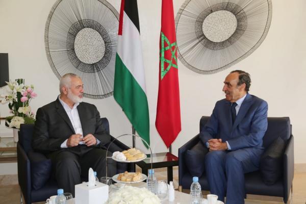 هنية يؤكد عمق العلاقة بين الشعبين المغربي والفلسطيني