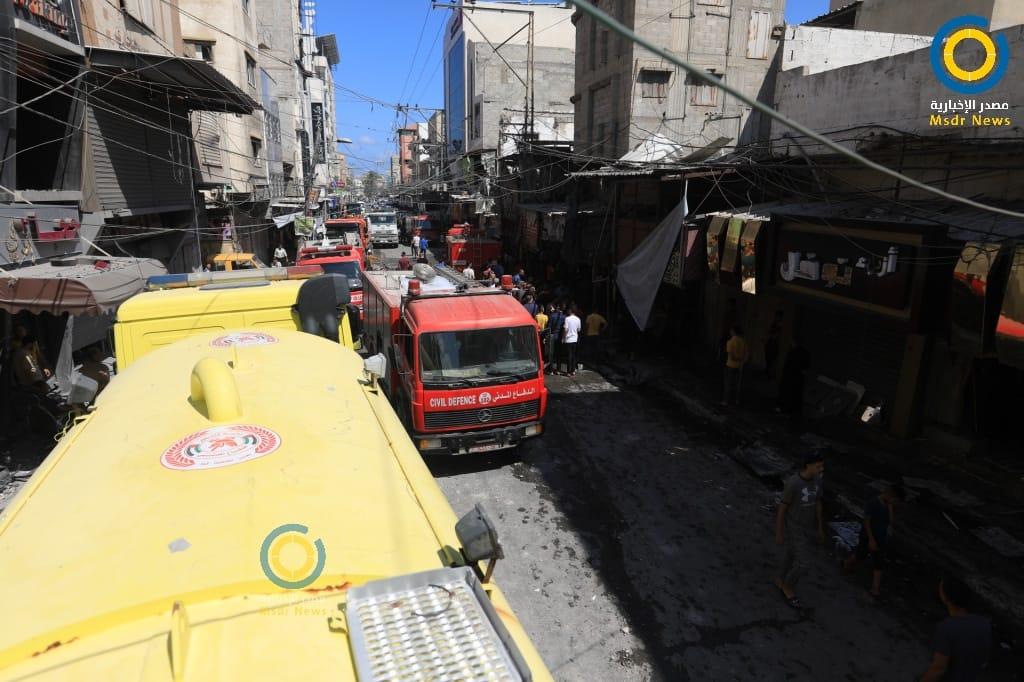 حصر أضرار انفجار الزاوية