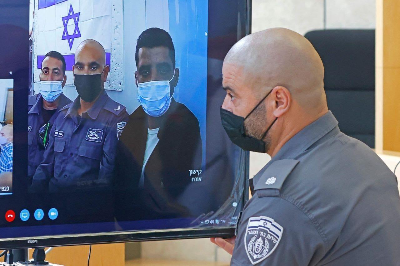 محكمة الاحتلال تمدد توقيف أسرى جلبوع الأربعة لعشرة أيام